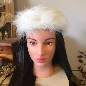 Vintage Pillbox *Real* Marabou Hat 1940's